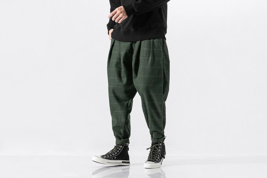 1a0258667fe39d Warm Woolen Casual Plaid Harem Pant – fuzzishot